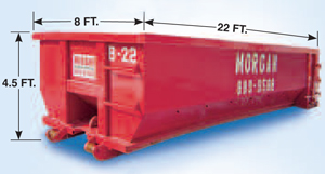 Roll off dumpster for commercial garbage removal